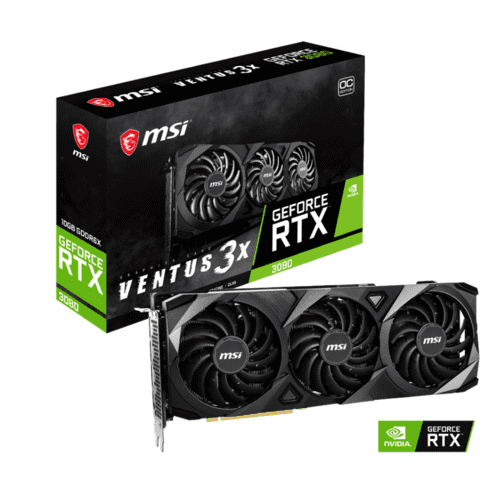 MSI GeForce RTX 3080 Ventus 3X OC 10GB VRAM (Ukendt levering)