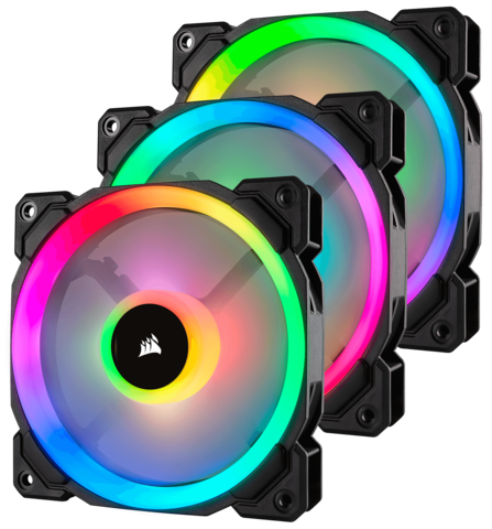 Corsair LL120 RGB  Fan kit med Kontroller og Lightning node pro